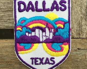 Dallas, Texas Travel Souvenir Patch from Voyager