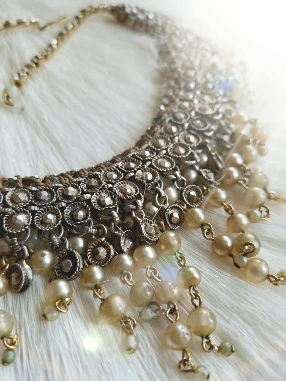 SOLD! Vintage Bridal Choker