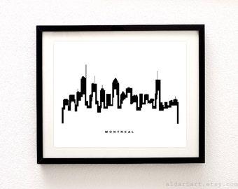 Montreal Skyline Print - Cityscape Print - Montreal Skyline Print - Montreal City Print - Modern Decor - Aldari Art