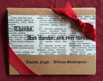 Shakespeare Twelfth Night Thank You Note Cards