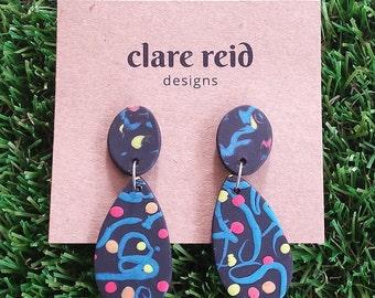 Handmade Statement Polymer Clay Earrings