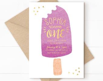 Ice cream invitation, ice cream party, ice cream birthday, sprinkle invitation, ice cream social, ice cream parlor