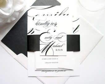 Wedding Invitation, Wedding Invites, Wedding Invitation Suite, Wedding Invitation Set - Deposit