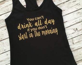 Day Drinking Tank Shirt Funny