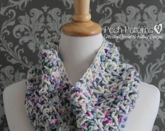 Crochet PATTERN - Crochet Cowl Pattern - Cowl Crochet Pattern - Infinity Scarf Crochet Pattern - Circle Scarf - The Adeline Cowl - PDF 424