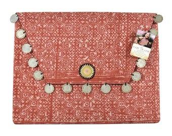 Red Batik Envelope Clutch / Tablet Case / Fairtrade / Boho / Gift