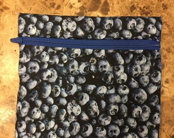 Blueberries Reusable Snack Bag