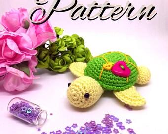 Shelly & Peggy Sea Turtles AMIGURUMI PATTERN, Crochet Pattern, Micro Crochet Pattern, Crochet Miniature Pattern, English Pattern artist doll