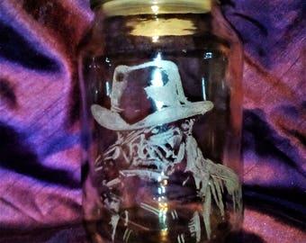 Hand Engraved Storage Jar (Horror Design)