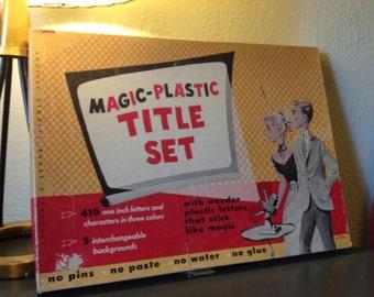 Vintage Magic-Plastic Title Set