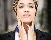 African clothing, baby headwrap, Head wrap, African head wraps, Ankara head wraps, African fabric, Leopard print fabric, African headband
