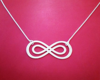 Double Infinity Necklace Sterling Silver Double Infinity Necklace Double Infinity Pendant Double Infinity Sign Necklace Infinity Jewelry