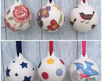 Handmade Ceramic Baubles Emma Bridgewater- Cath Kidston- Christmas Decorations- Christmas Tree