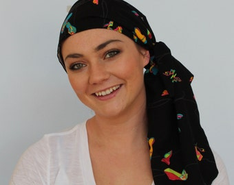 Jessica Pre-Tied Head Scarf, Women's Cancer Headwear, Chemo Scarf, Alopecia Hat, Head Wrap, Head Cover for Hair Loss - Shoe Obsession