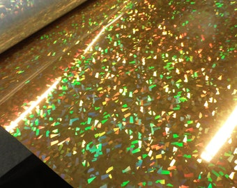 Gold Crystal Holographic Heat Press Vinyl