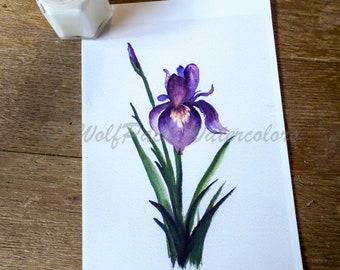 Inspired Iris Watercolor Fine Art Print