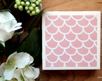 Ceramic Coasters - Ceramic Tile Coasters - Coaster Set - Table Coasters - Pink Coasters - Coaster - Tile Coaster - Coasters for Drinks