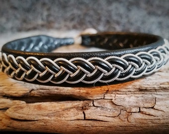 Tenntrådsarmband, Leather bracelet, Sami bracelet, Scandinavian craft
