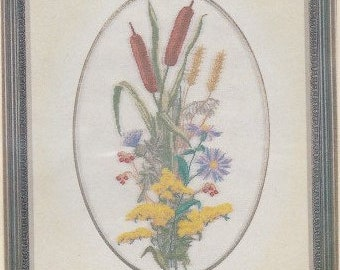 Helen Burgess Counted Thread Design. Countryside Bouquet Pattern. HB4084.