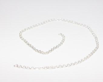 1 x silver rolo chain