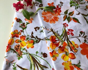 Botanical Floral Fabric, Indian Fabric by the yard, Fashion Fabric, Floral Fabric, Floral Vines Print, Indian Cotton Fabric, Crafting fabric