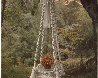 Macramé Elegance • 1970s Macrame Learning Knots How To Instruction Pattern Book • 70s Vintage Pot Hanger Owl Owls Knotwork • Retro PDF