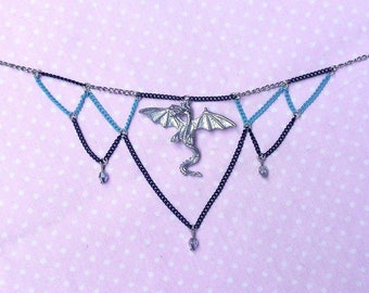 Ice Cold Dragon Choker Necklace