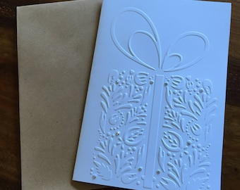 Hand made Embossed Christmas/Holiday cards. * Elaborate gift* (5 cards) XCP07