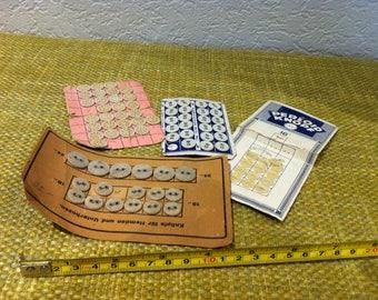 Antique dress buttons perloid used