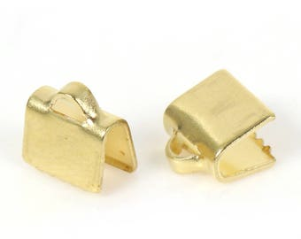 set of 20 caps attach claw brass gold plated 7 mm