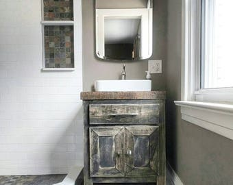 sale aspen edition 18 96 distressed custom hand made bathroom - Farmhouse Bathroom Vanity