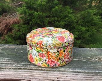 Floral Tin Collectible Tin Can