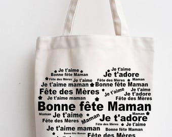 Cotton tote bag mother's day.