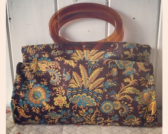 Vintage Ladys Pride 'Fold and Snap' 1970's Shopping Tote Bag