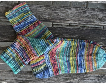 Socken Gr.38/39, handgestrickt aus OPAL Sockenwolle - HappyScrappyStile