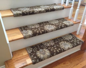 Authentic Wool Sable TRUE Bullnose™ Carpet Stair Tread New Zealand Wool  Emporium Runner Replacement Upgrade