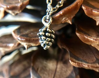 tiny pinecone neckace