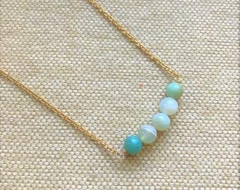 Amazonite Chain Necklace