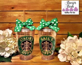Starbucks Cup, Personalized Starbucks Cup, Starbucks Tumbler, Starbucks Mug, Bridesmaid Gifts, Personalized Birthday Favors, Party Favor