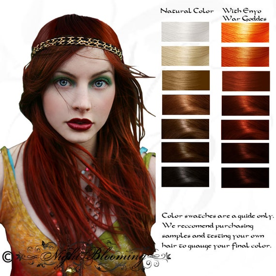 Enyo: War Goddess Ruby Red Henna Hair Color Dye and