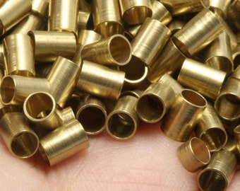 50 Pcs Raw Brass Tube 3,5 x 5 mm (hole 3 mm 9 gauge) industrial raw brass,raw brassPendant,Findings spacer bead bab3T999