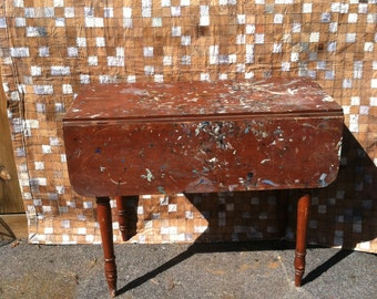 Antique Artist Table Vintage Artist Paint Splatter Studio Industrial Antique Table FarmTable Jackson Pollack Art
