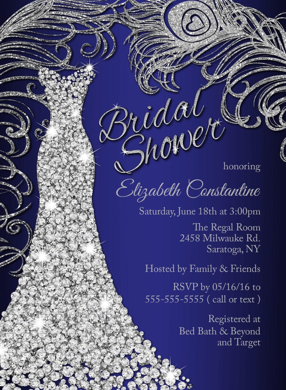 Wedding Dress Bridal Shower Invitation Wedding Shower
