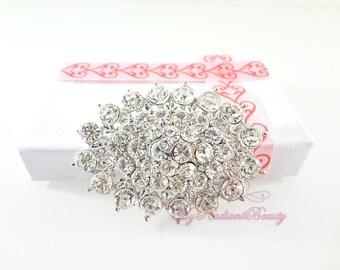 Wedding Brooch, Bridal Brooch, Vintage Brooch, Brilliant Oval Rhinestone Crystal Bridal Brooch, Wedding Jewelry, Rhinestone Brooch BR0029