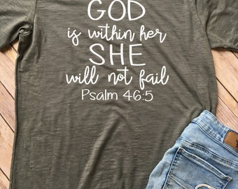 GOD is within her V-Neck Tee