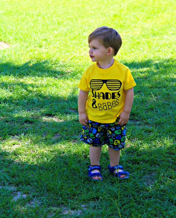Shades and Babes Shirt, boys graphic tee, baby boys shirt, clothes for boys, toddler boy shirt, beach shirt, summer tees, infant boys shirt