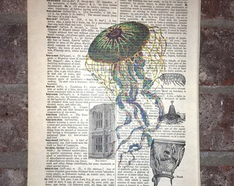 Electric Jellyfish!  Dictionary Art