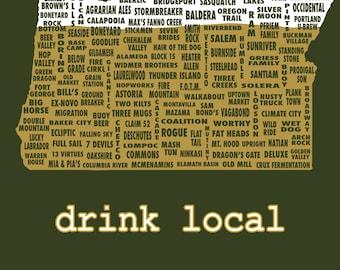 Drink Local- Oregon Beer T-shirt