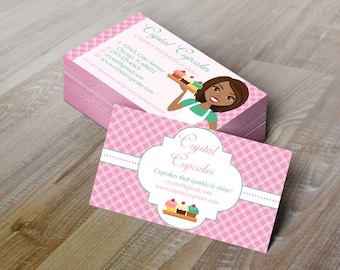 Editable bakery business card cupcake business card bakery diy do it yourself bakery chef business card design editable template solutioingenieria Image collections