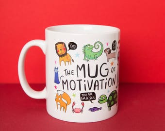 The Mug of Motivation - Illustrative - Gift for her - Gift for him - Exam - New Job - Confidence Boost - Katie Abey - housewarming - moving